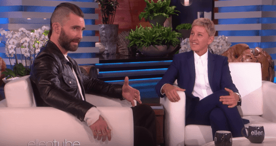 "Adam Levine guests on ""The Ellen DeGeneres Show."" 