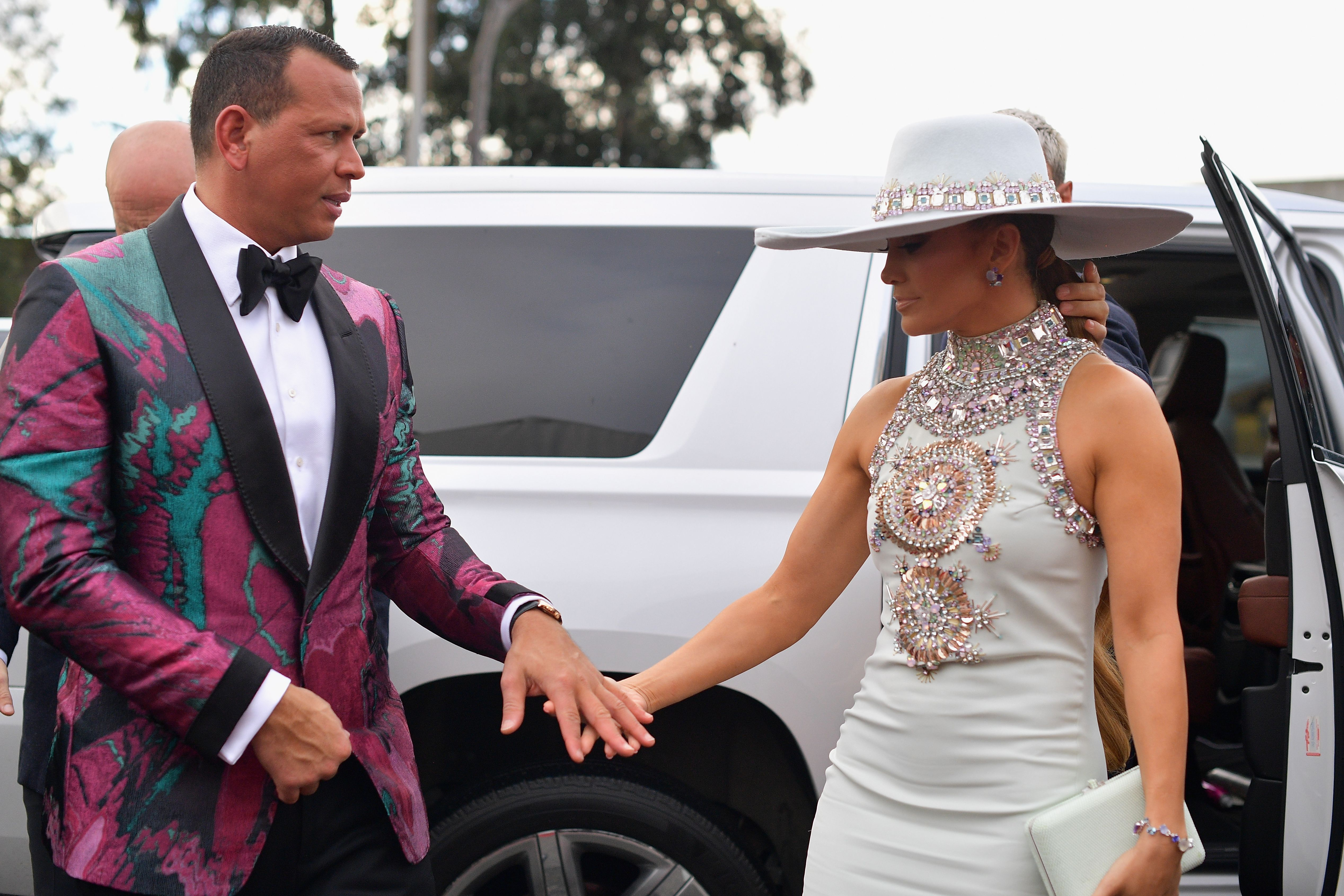 Alex Rodriguez and Jennifer Lopez at the 61st Annual GRAMMY Awards at Staples Center in Los Angeles, California | Photo: Matt Winkelmeyer/Getty Images for The Recording Academy