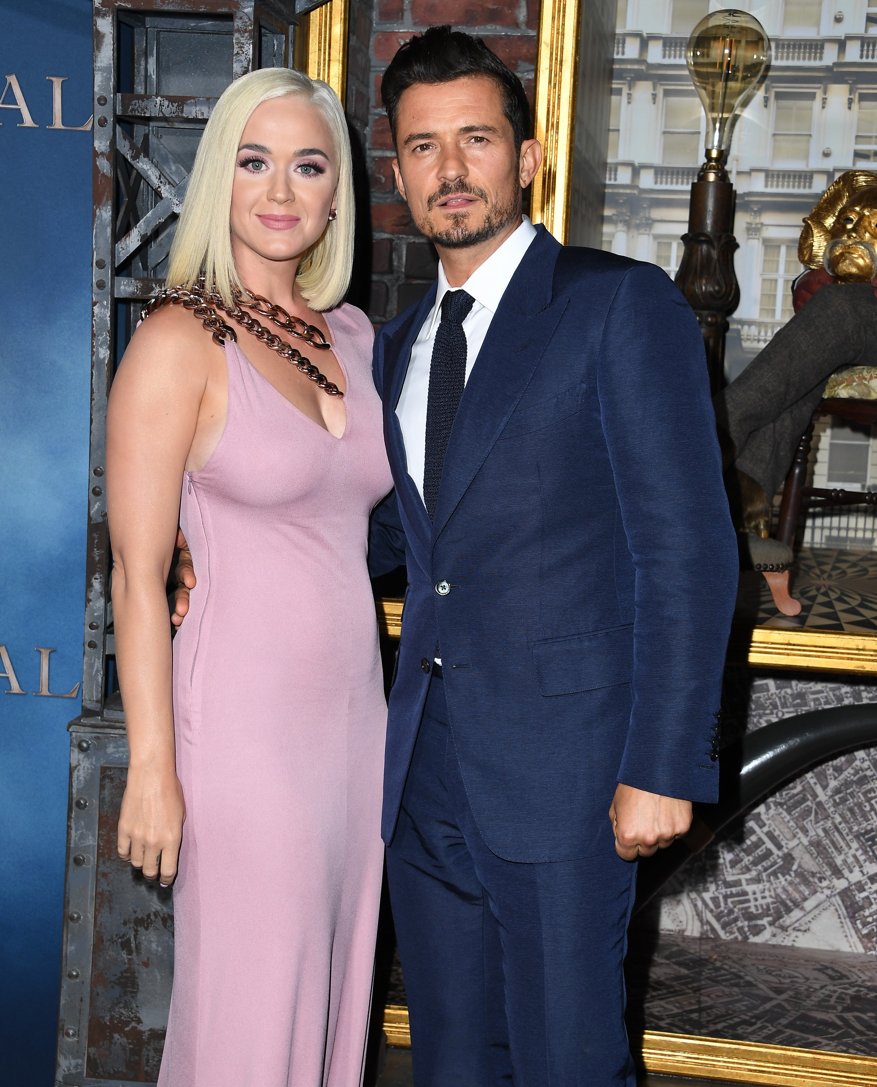 """Katy Perry and Orlando Bloom at the LA premiere of Amazon's """"Carnival Row"""" on August 21, 2019 in Hollywood, California. 
