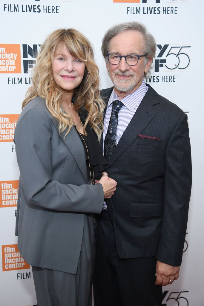 """Kate Capshaw and Steven Spielberg at 55th New York Film Festival screening of """"Spielberg"""" at Alice Tully Hall on October 5, 2017 