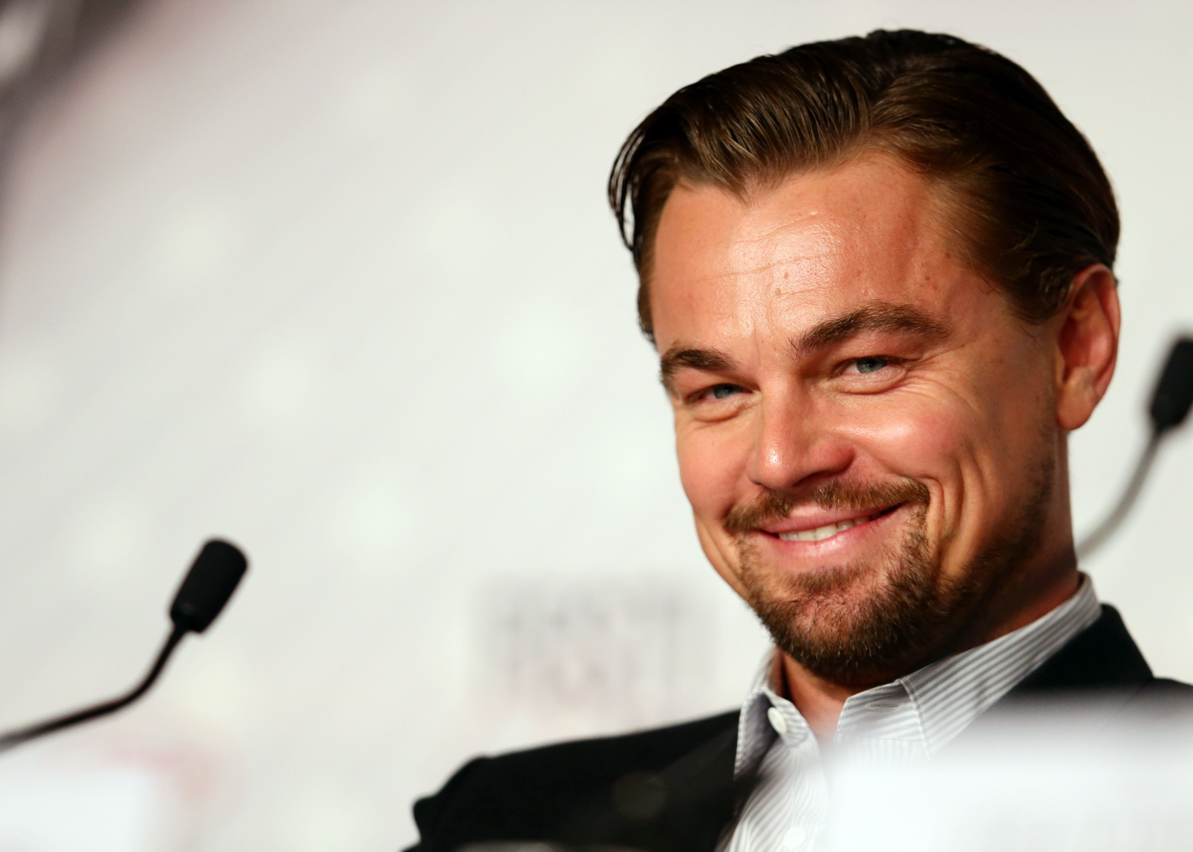 """Leonardo DiCaprio at the """"The Great Gatsby"""" press conference at the Cannes Film Festival in 2013 in France 