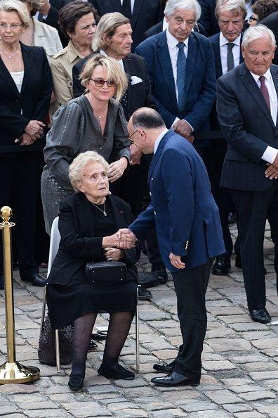 Bernadette Chirac assistent aux funérailles de Simone Veil à l'hôtel Des Invalides le 5 juillet 2017 à Paris | Photo : Getty Imges