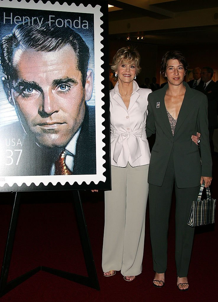 Jane Fonda and Vanessa Vadim at the Henry Fonda Centennial Celebration and the US Postal service on May 20, 2005 | Photo: GettyImages