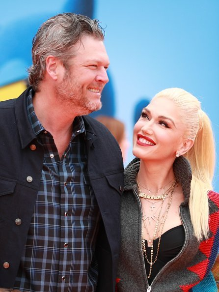 "Blake Shelton (L) and Gwen Stefani attend STX Films World Premiere of ""UglyDolls"" at Regal Cinemas L.A. Live in Los Angeles, California 