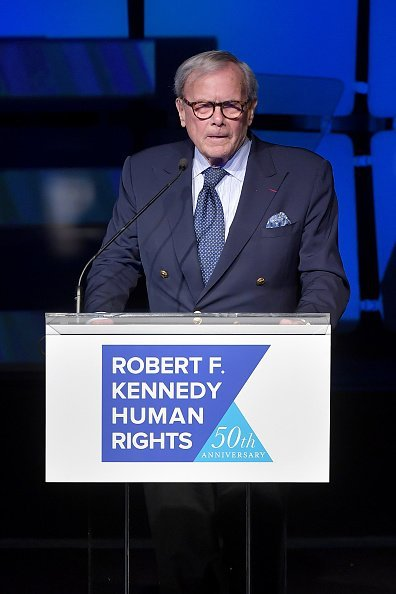 Tom Brokaw speaks onstage during the 2019 Robert F. Kennedy Human Rights Ripple Of Hope Awards | Photo: Getty Images