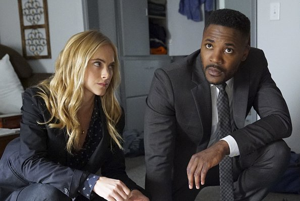Emily Wickersham, Duane Henry on the set of NCIS | Photo: Getty Images