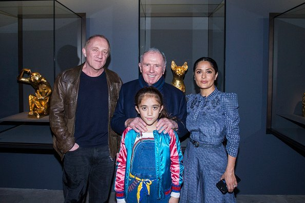 Francois Henri Pinault, Francois Pinault, Valentina Pinault and Salma Hayek at Punta Della Dogana during the 57th Venice Biennale on May 10, 2017 in Venice, Italy. | Photo: Getty Images