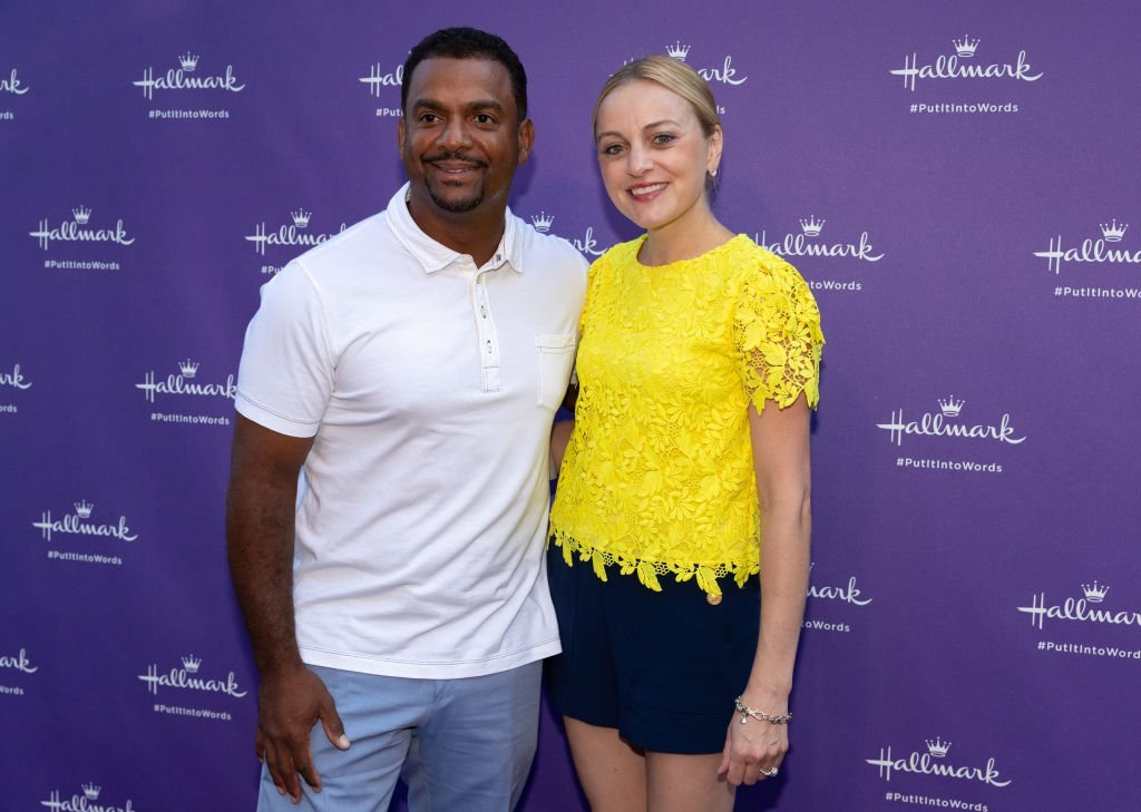 "Alfonso Ribeiro & Angela Ribeiro at the launch party for Hallmark's ""Put It Into Words"" Campaign on July 30, 2018 in California 