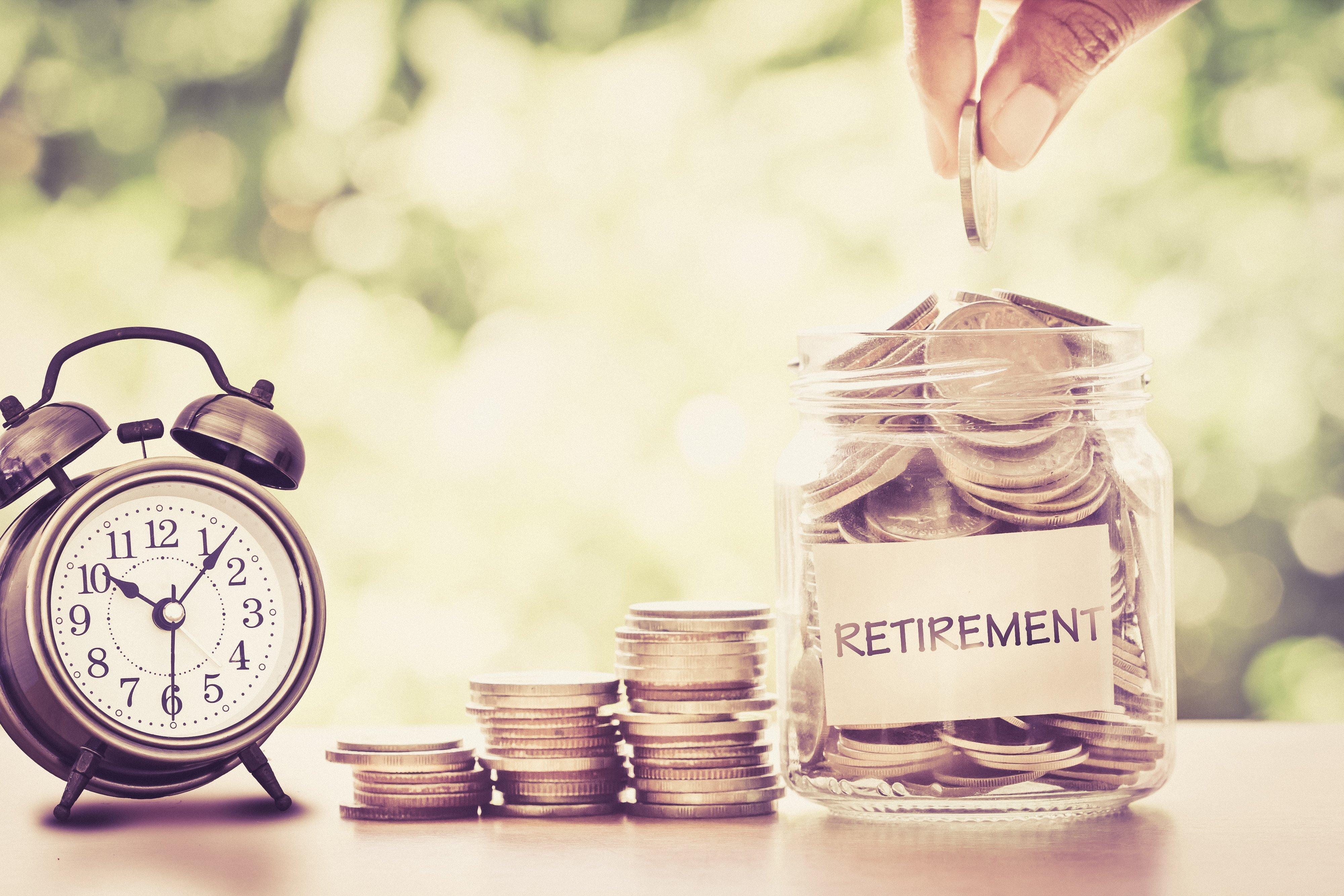 Jar of money for retirement | Photo: Shutterstock
