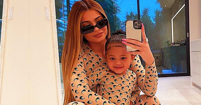 Kylie Jenner's Daughter Stormi Plays Tennis in Tie-dyed Blue and White Outfit