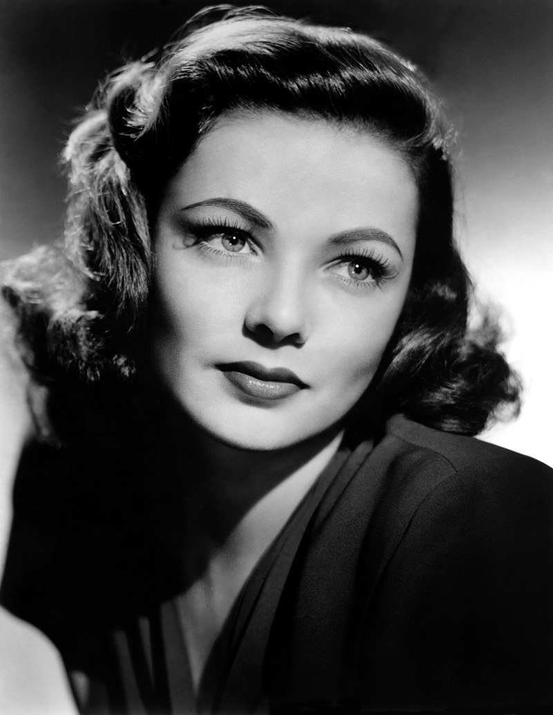 Studio portrait of Gene Tierney taken in the 40s | Source: Wikimedia Commons/ Unknown author, Studio publicity Gene Tierney, marked as public domain