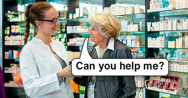 The elderly lady stepped inside the pharmacy and asked him for help.   Photo: Shutterstock