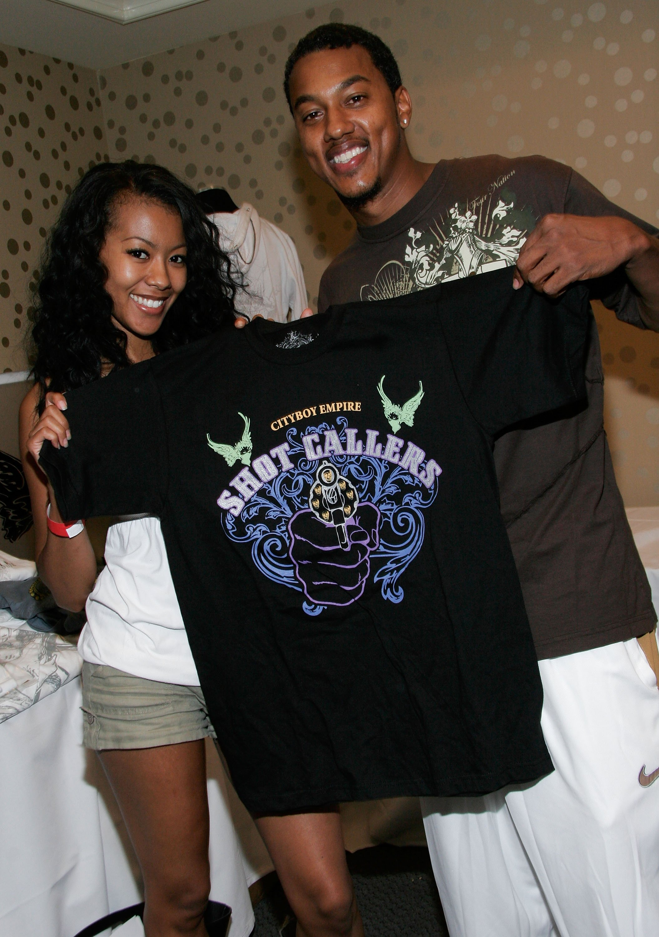 Wesley Jonathan and Denyce Lawton at LeMontrose Suite Hotels on June 21, 2007 | Photo: Getty Images