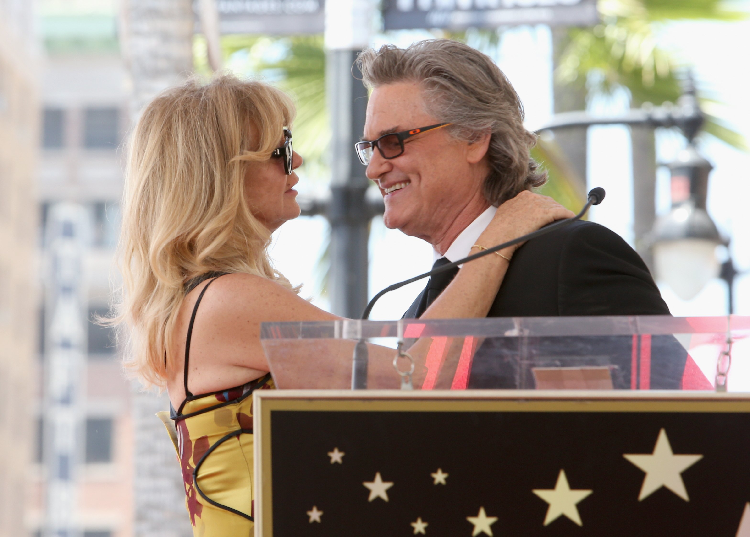 Goldie Hawn and Kurt Russell are honored with a Star on the Hollywood Walk of Fame in California on May 4, 2017 | Photo: Getty Images
