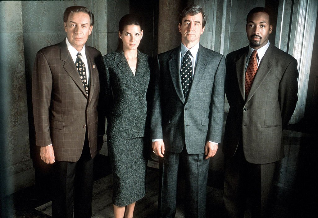 """The Cast Of """"Law & Order"""" on set on November 30, 1999. 