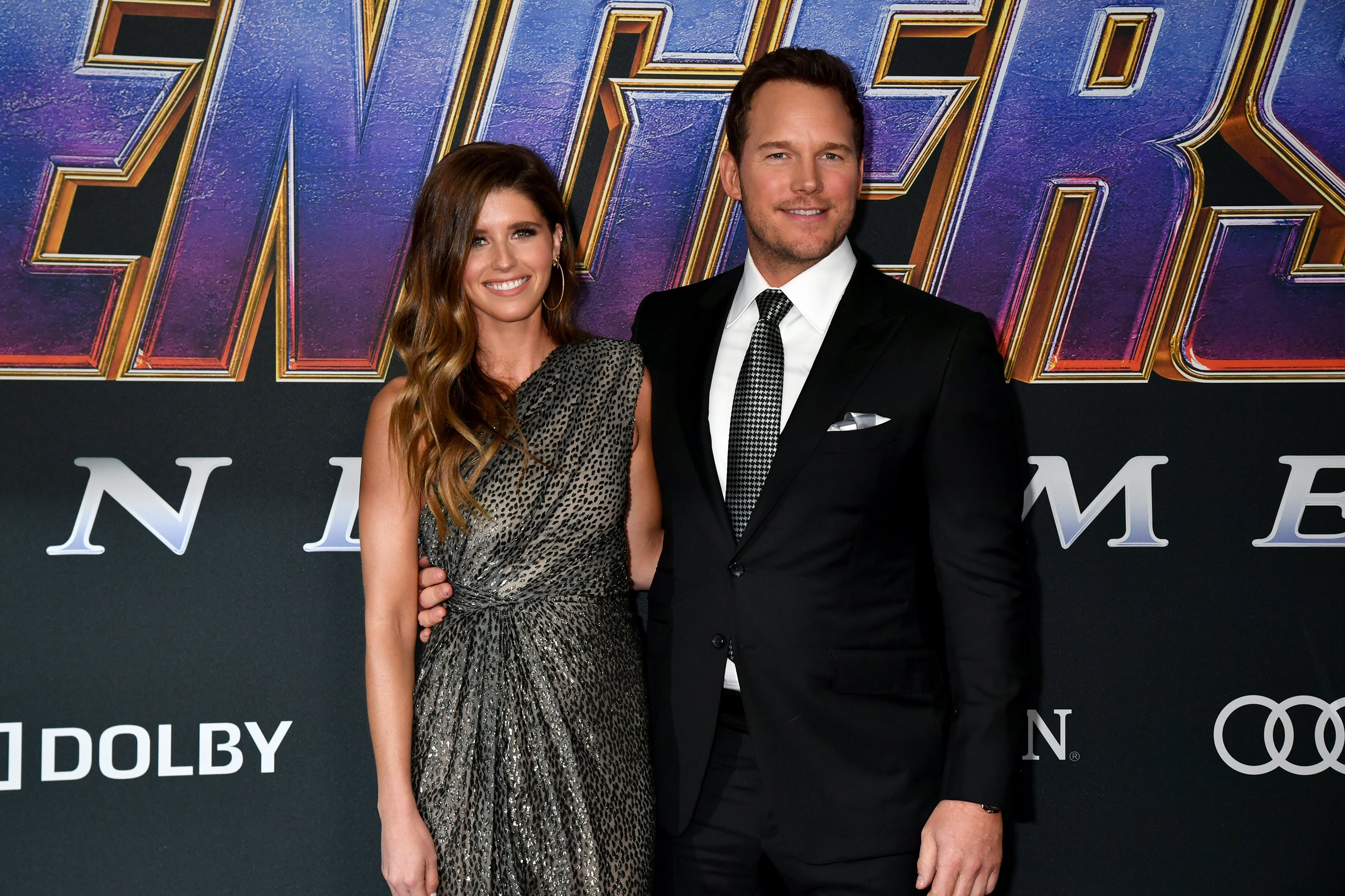 """Katherine Schwarzenegger and Chris Pratt attends the World Premiere of Walt Disney Studios Motion Pictures """"Avengers: Endgame"""" at Los Angeles Convention Center on April 22, 2019 in Los Angeles, California.   Source: Getty Images"""