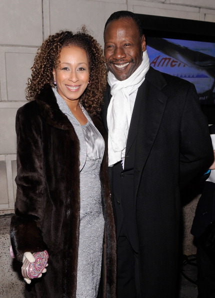 Tamara Tunie and Gregory Generet. Image Source: Getty Images