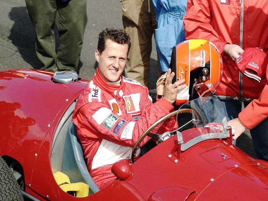 Michael Schumacher au Grand Prix de Grande-Bretagne 2001, le 15 juillet 2001 à Londres. Photo : Getty Images