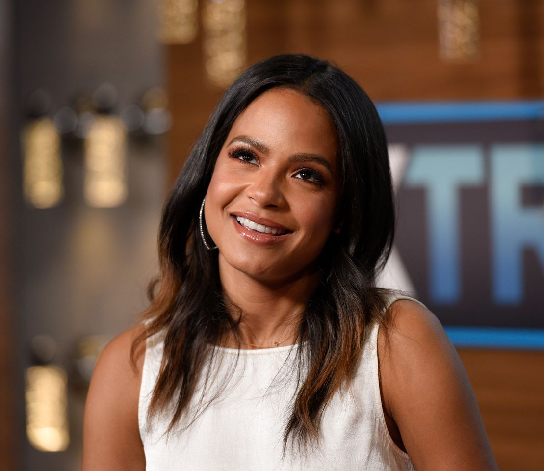 """Christina Milian visits """"Extra"""" at Universal Studios Hollywood on December 05, 2018 in Universal City, California.   Source: Getty Images"""