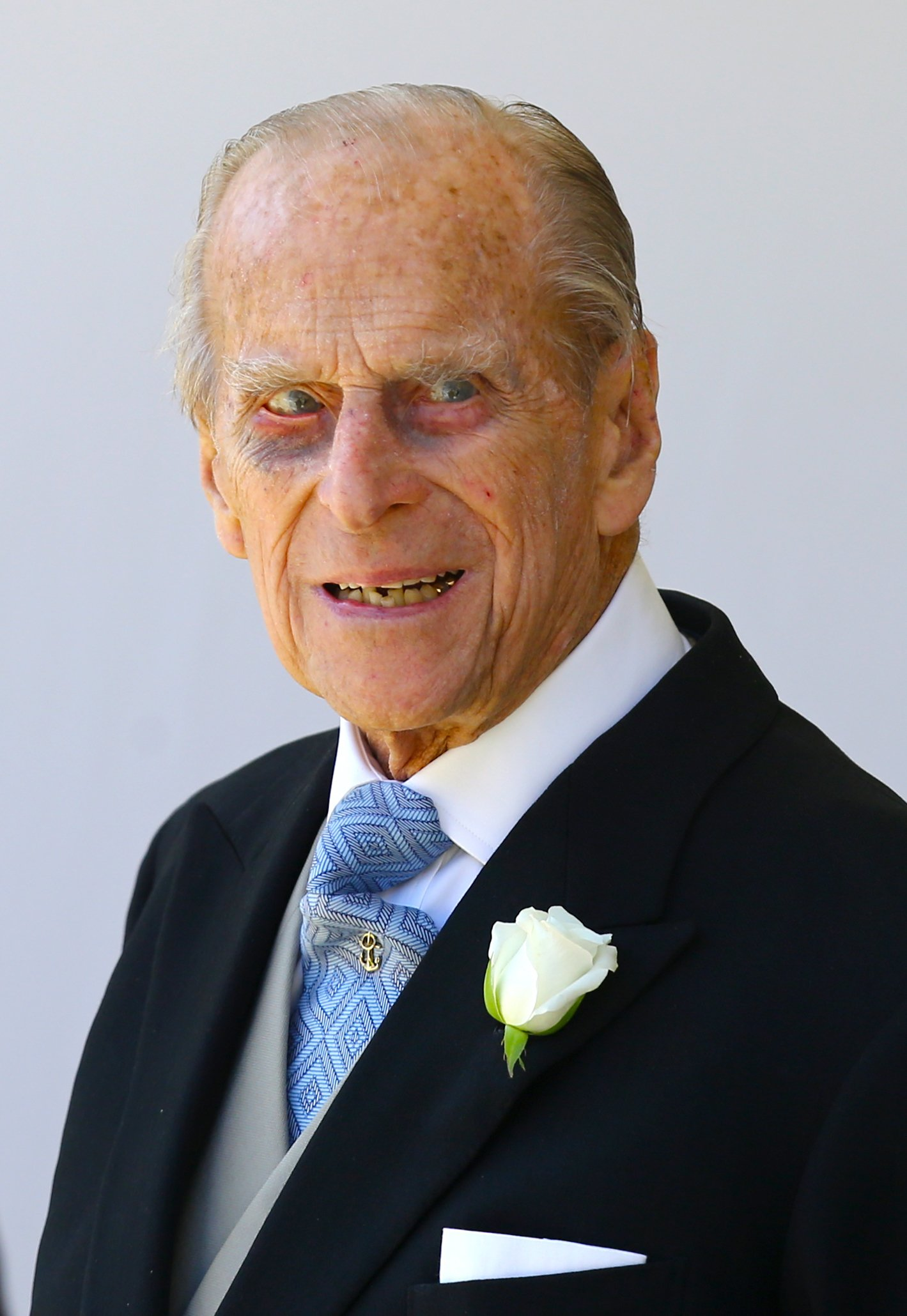 Prince Philip, Duke of Edinburgh leaves St George's Chapel at Windsor Castle after the wedding of Prince Harry to Meghan Markle on May 19, 2018, in Windsor, England. | Source: Getty Images.