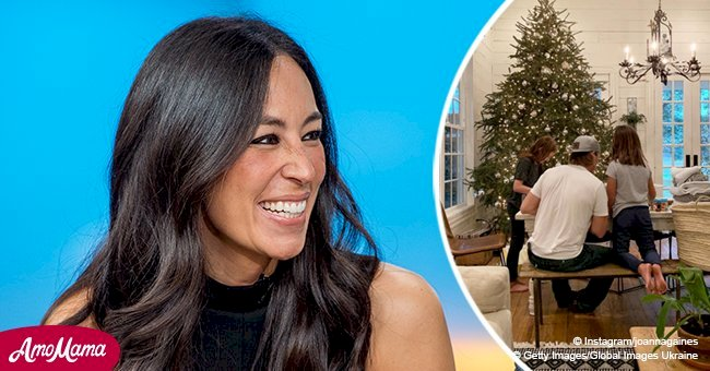 Joanna Gaines lifted the veil of her post-Christmas routine by sharing the cutest family photo