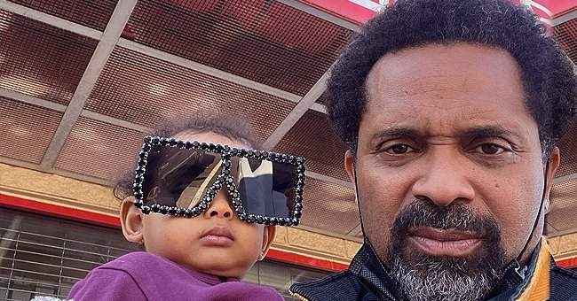 Mike Epps' Baby Indiana Looks like a Superstar in Huge Black Inlaid Sunglasses with Rhinestones