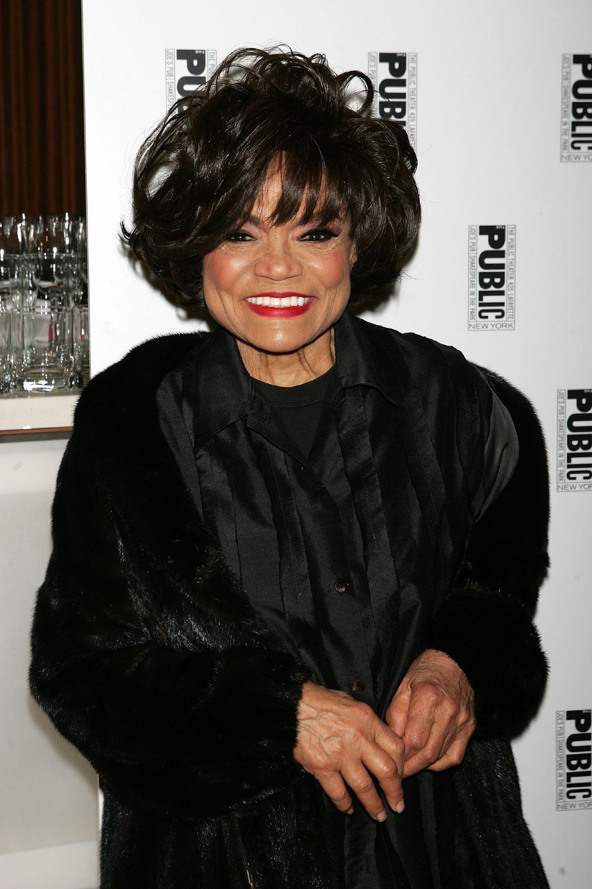 """Eartha Kitt arrives at the after party for """"The Public Sings: A 50th Anniversary Celebration"""" at the Time Warner Center January 30, 2006 in New York City.  
