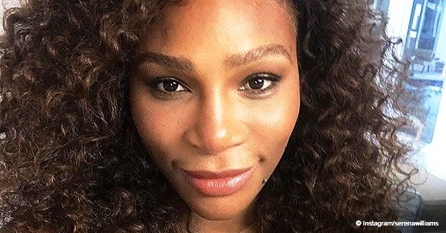 Serena Williams' daughter melts hearts with her face paint while wearing checkered top in new photo