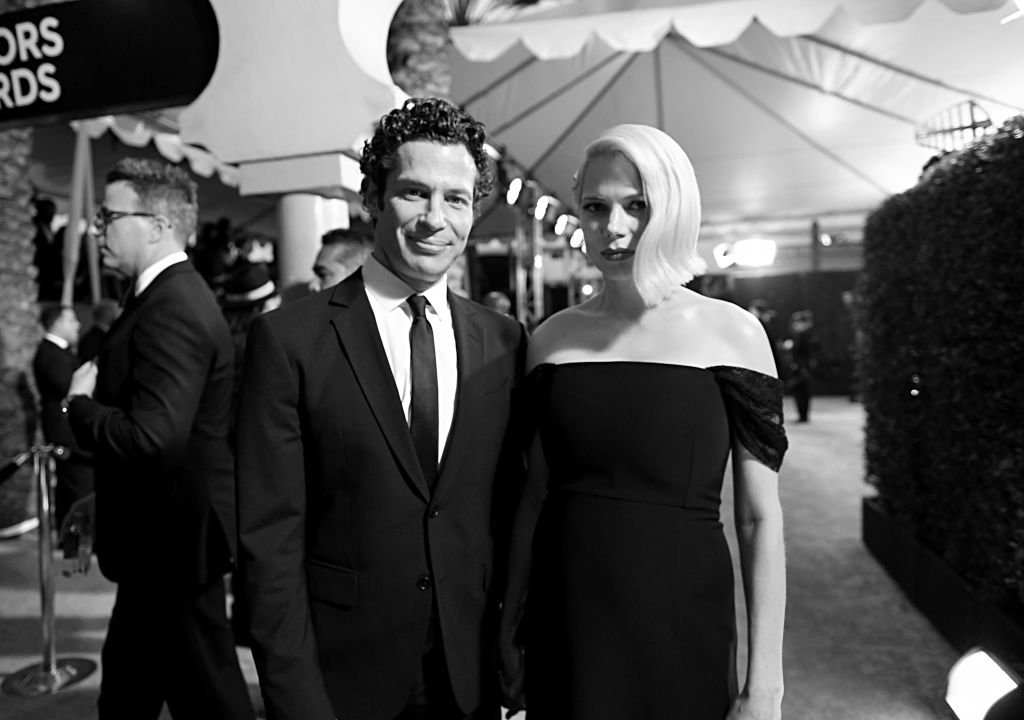 Thomas Kail and Michelle Williams attend the 26th Annual Screen ActorsGuild Awards at The Shrine Auditorium on January 19, 2020.   Photo: Getty Images