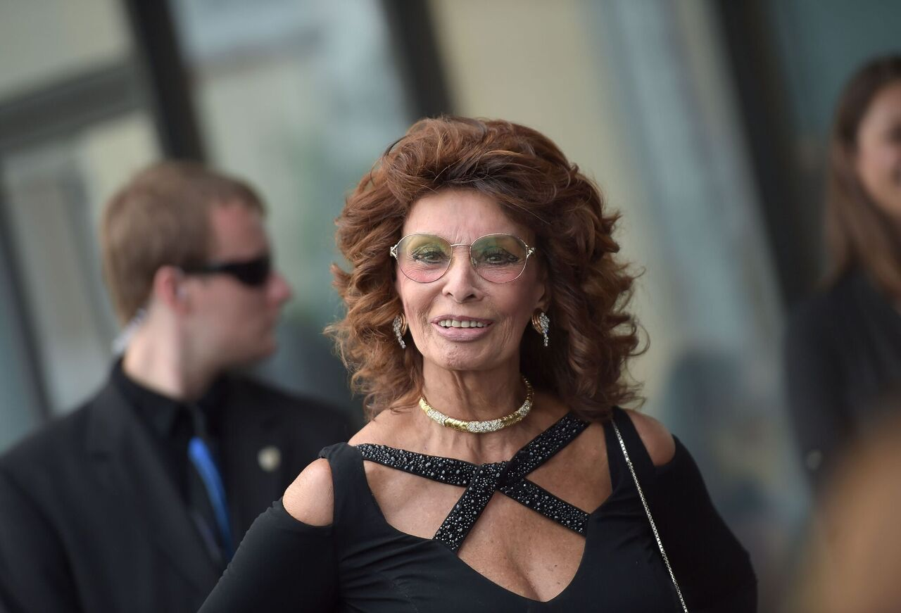 "Sophia Loren attends the premiere of ""Dark Places."" 