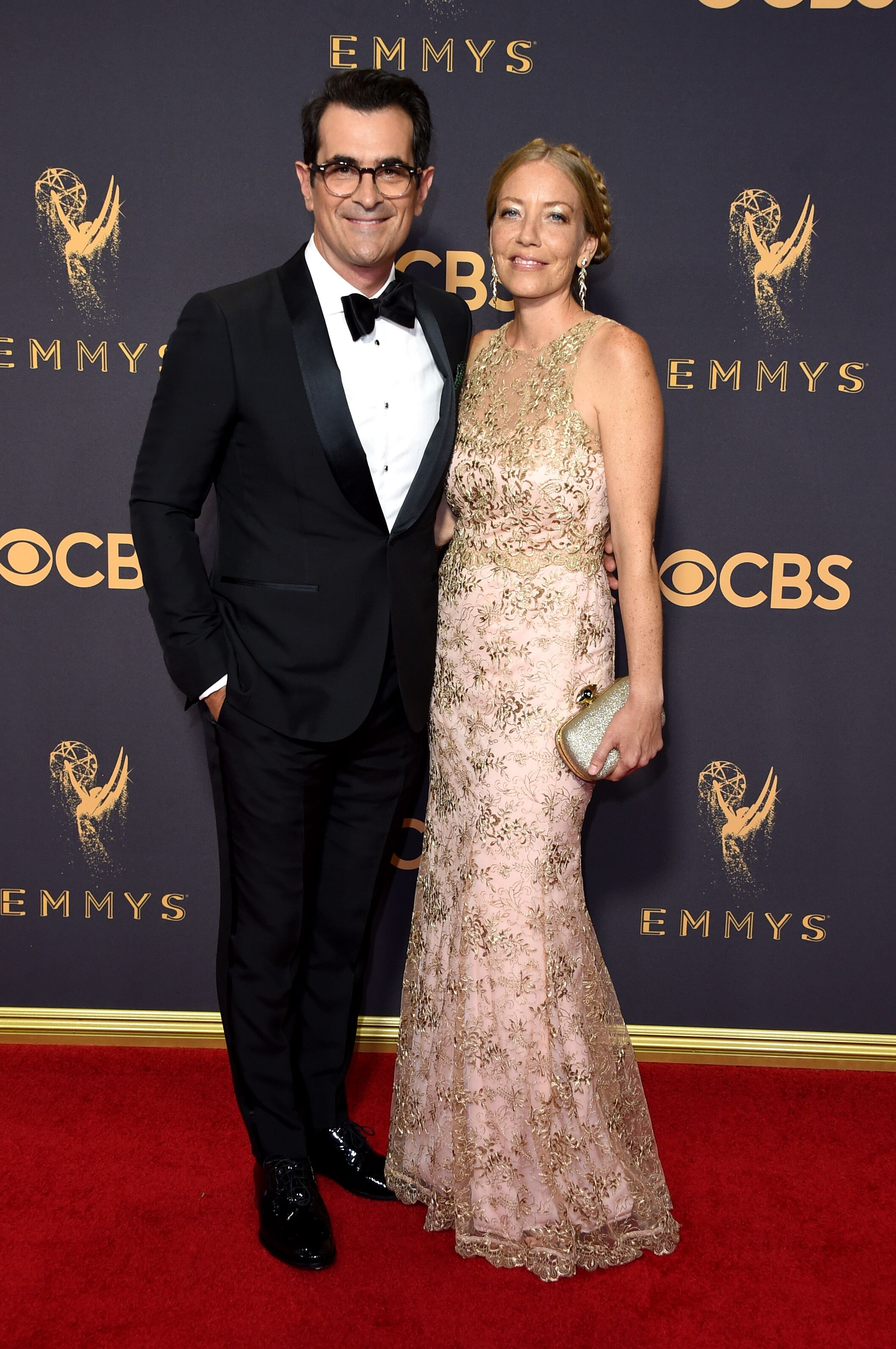 Ty Burrell and Holly Burrell at the 69th Annual Primetime Emmy Awards in 2017   Source: Getty Images