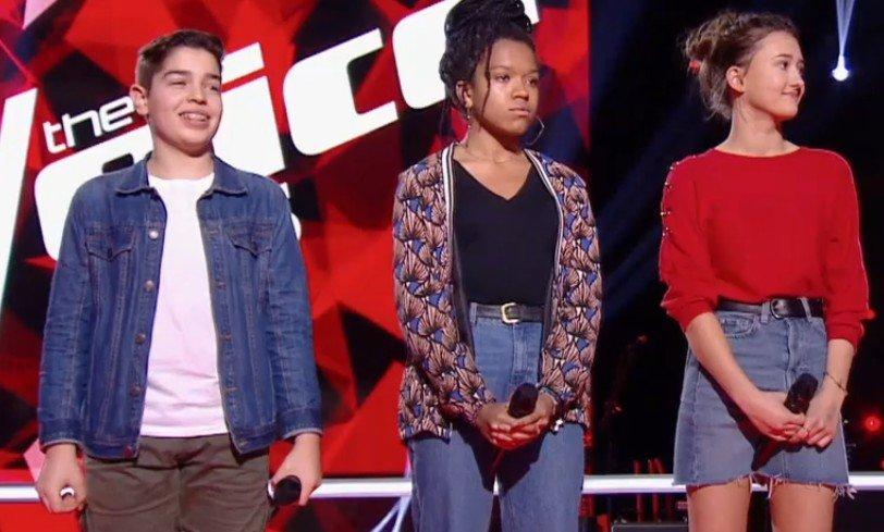Fannie, Enzo et Romane sur scène. l Source : TF1 Replay