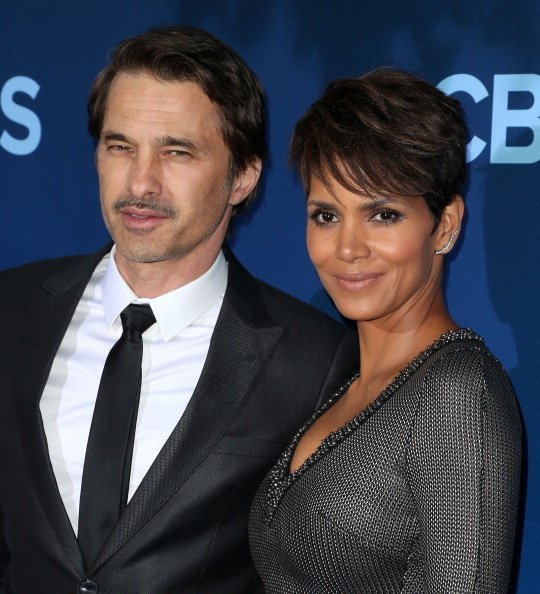 "Halle Berry and her husband Oliver Martinez at the Premiere of CBS Television Studios & Amblin Television's ""Extant"" at the California Science Center on June 16, 2014 in Los Angeles, California.