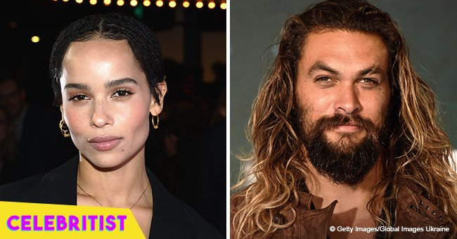 Jason Momoa & stepdaughter Zoe Kravitz are all smiles while posing together at recent event