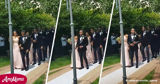 Video of Black bridesmaids and groomsmen dancing their way down the the aisle still melts hearts