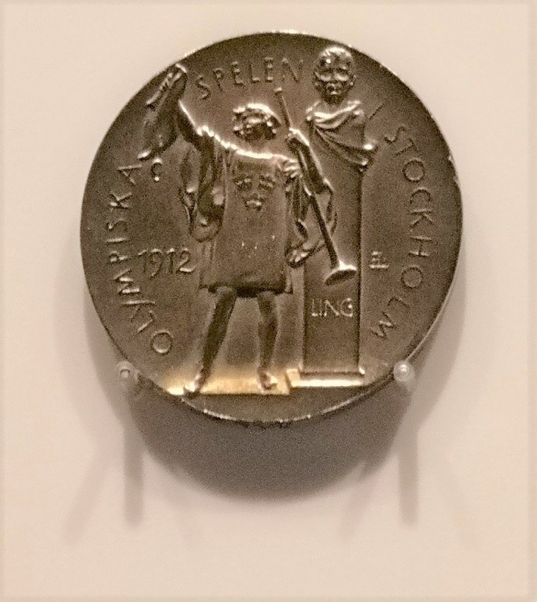 1912 Summer Olympics gold medal at the Olympic museum in Lausanne | Source: Wikimedia Commons