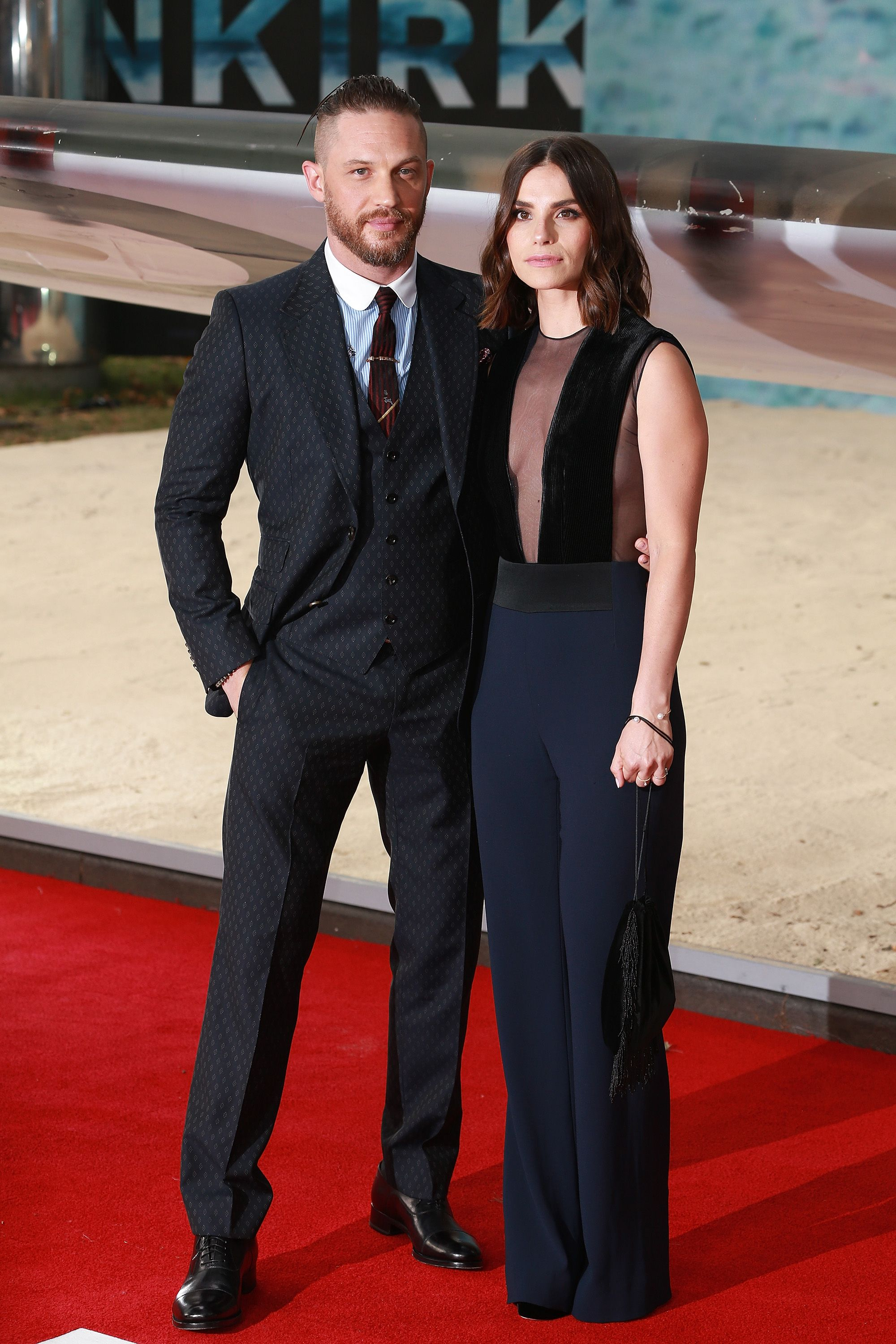 "Tom Hardy and Charlotte Riley at the ""Dunkirk"" world premiere in 2017 in London, England 