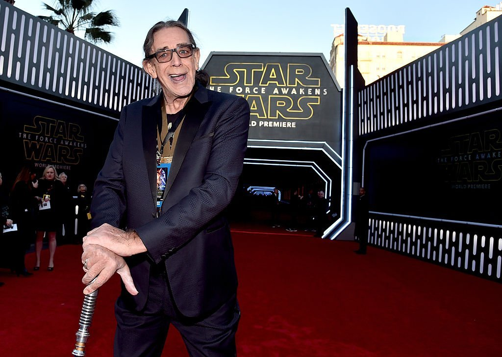 "Peter Mayhew attends the World Premiere of ""Star Wars: The Force Awakens."" 