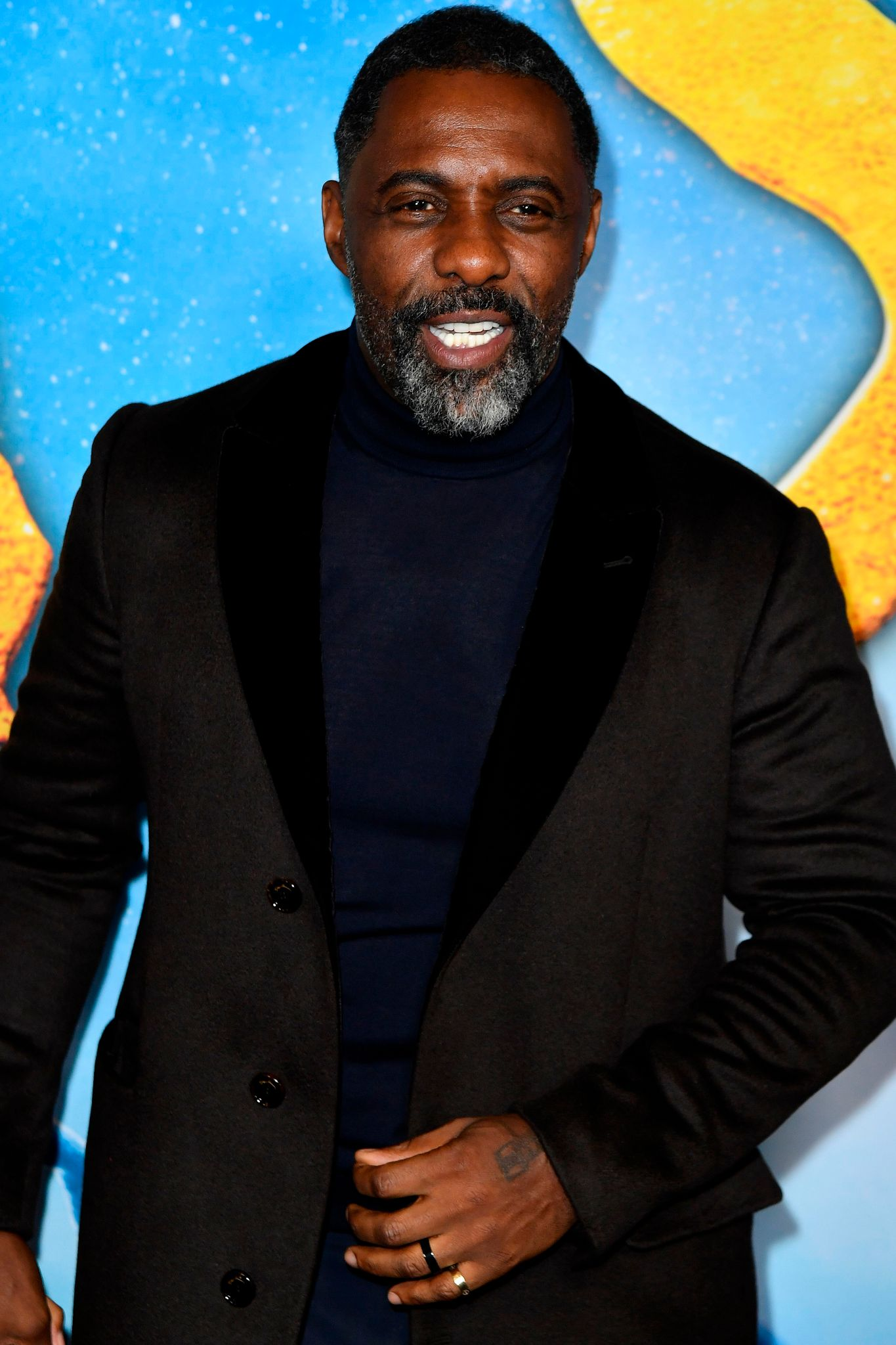 "Idris Elba at the premiere of ""Cats"" in New York City on December 16, 2019. 