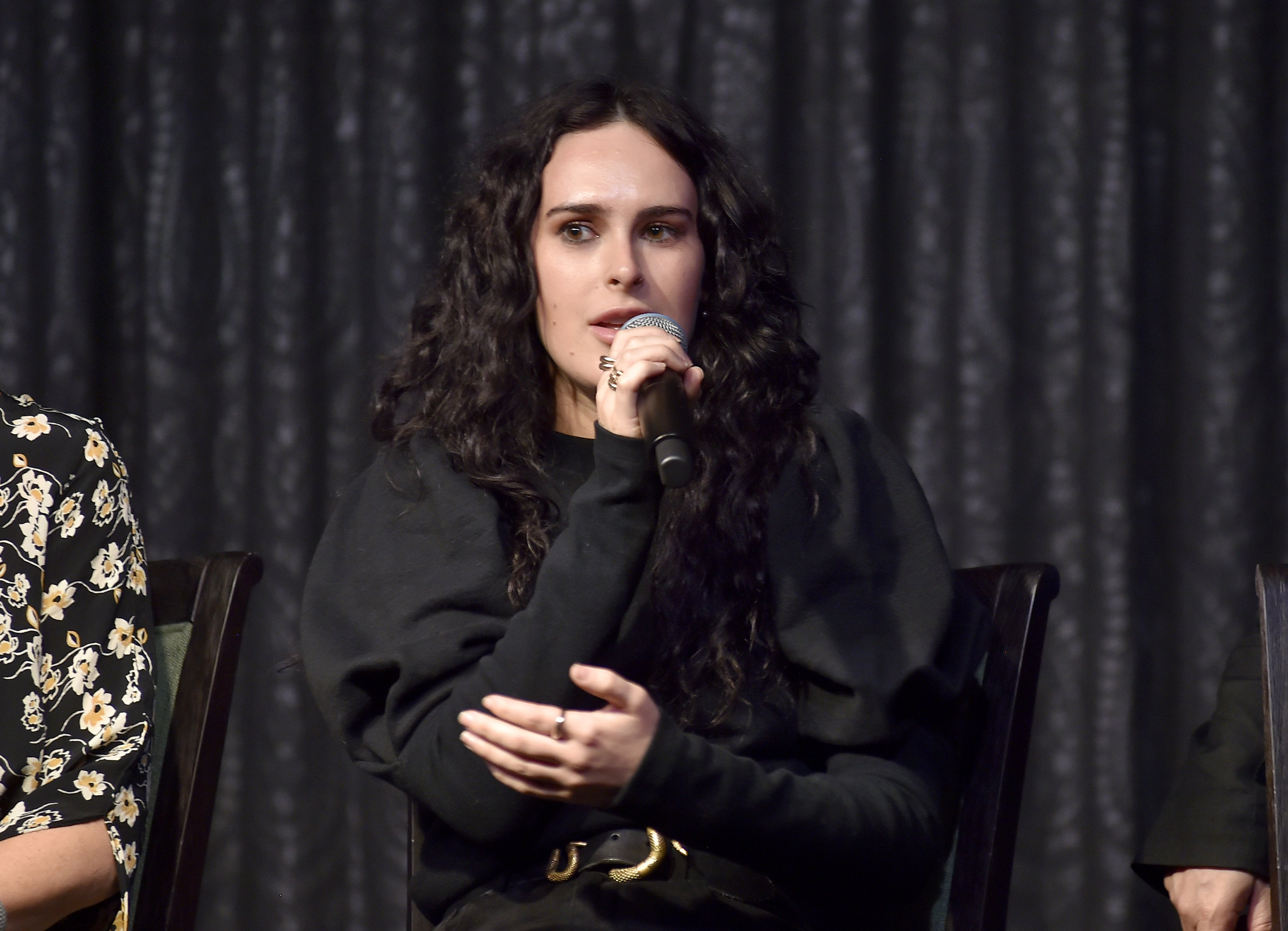 Rumor Willis speaks onstage as Cuyana x RAD Host Panel and Dinner in Honor of Future Coalition at The H Club Los Angeles on October 30, 2019 in Los Angeles, California | Photo: Getty Images