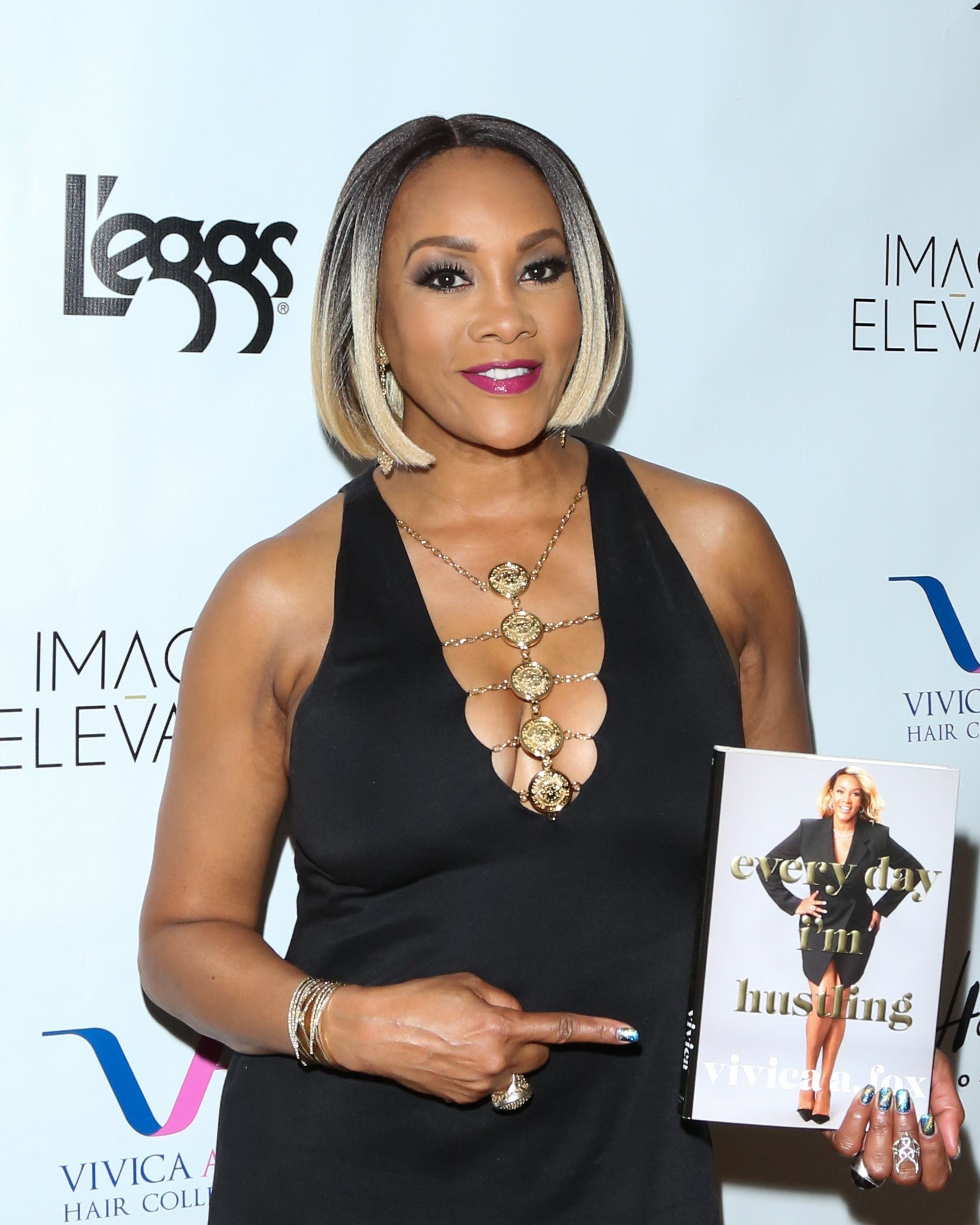 """Fox at a release party for her book """"Everyday I'm Hustling"""" in California in 2018. 