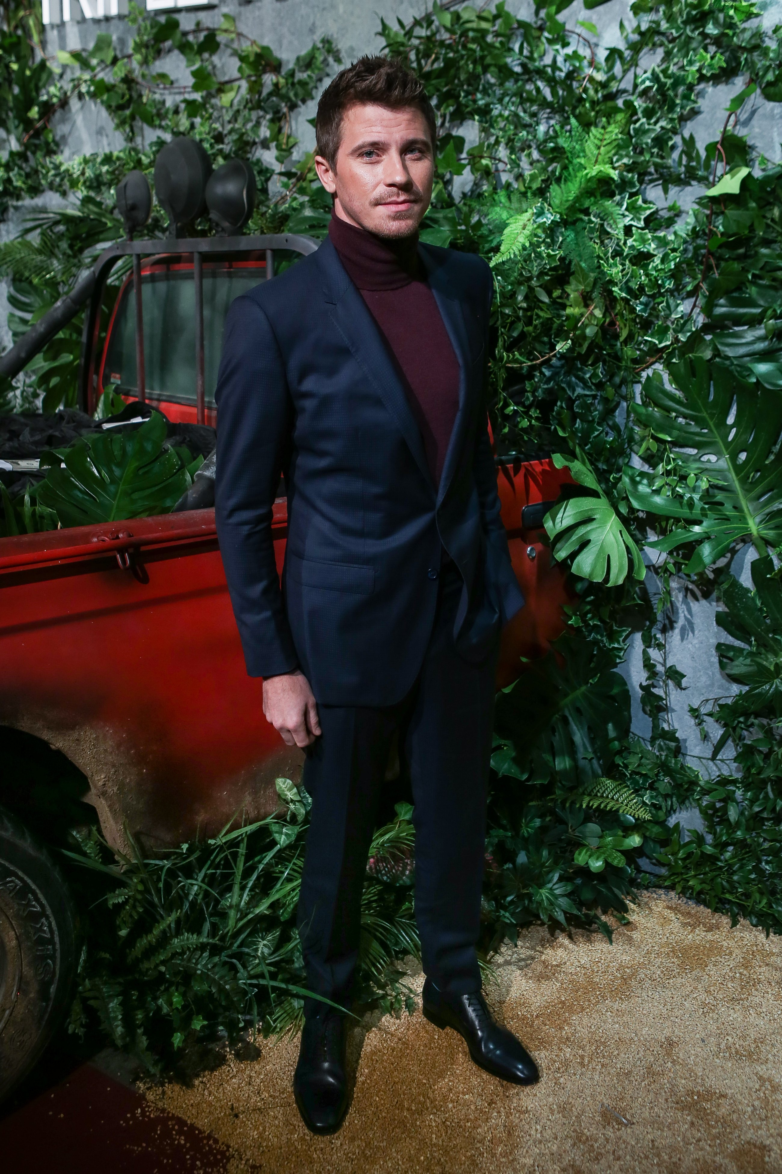 Garrett Hedlund pictured at the Triple Frontier (Triple Frontera) premiere at Callao Cinema, 2019, Madrid, Spain.   Photo: Getty Images