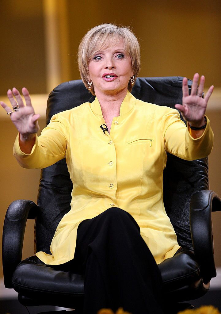 """Actress Florence Henderson of """"Ladies of the House"""" speaks for the Hallmark Channel during the 2008 Summer Television Critics Association Press Tour 