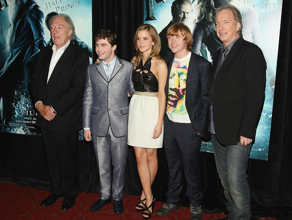 "Michael Gambon, Daniel Radcliffe, Emma Watson, Rupert Grint, and Alan Rickman, part of the ""Harry Potter"" cast, in 2009. I Image: Getty Images."
