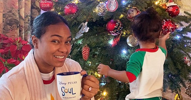 Tatyana Ali Makes Cookies with Her 2 Look-Alike Sons & Poses with Christmas Tree in Sweet Pics