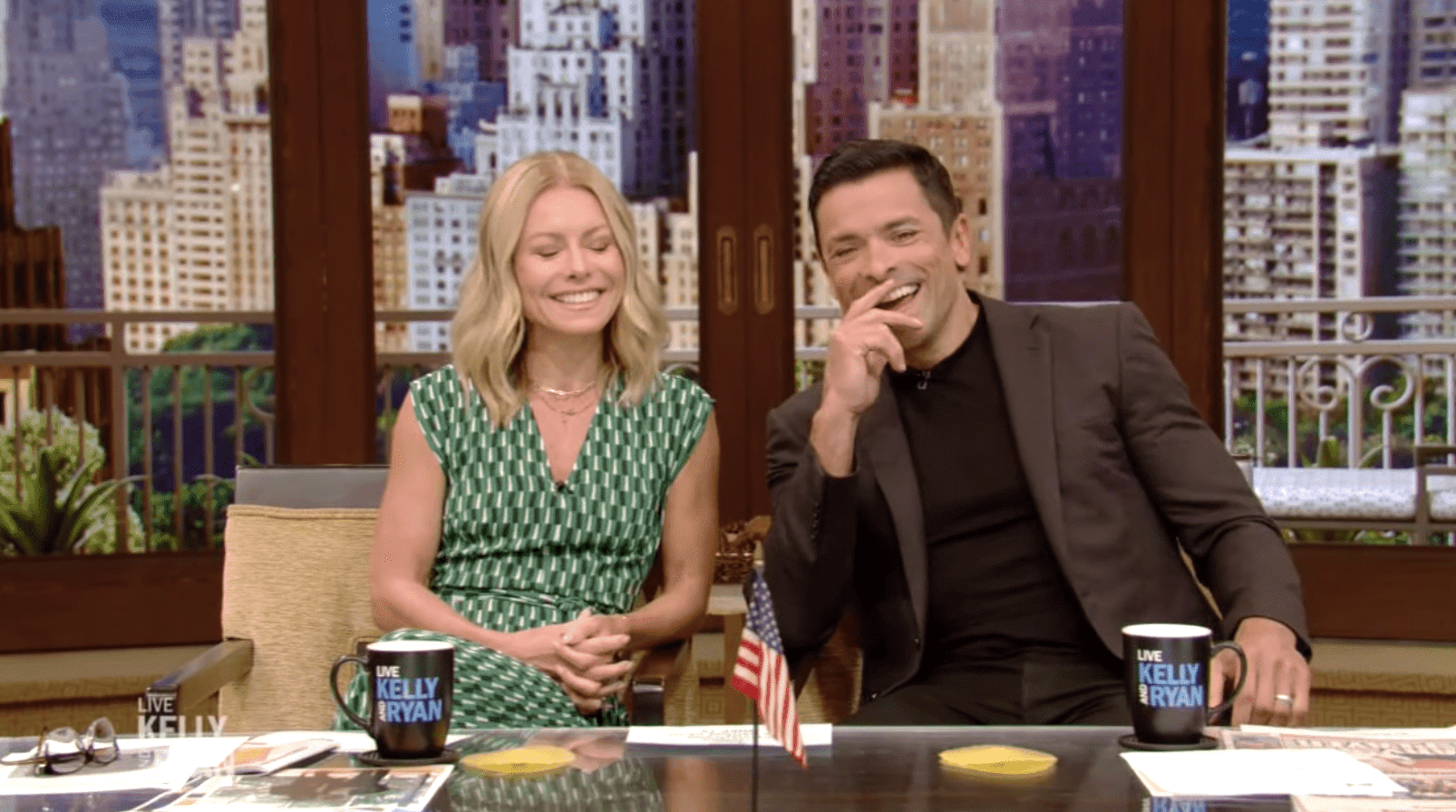 """Kelly and Mark on """"Live With Kelly and Ryan"""" show. 