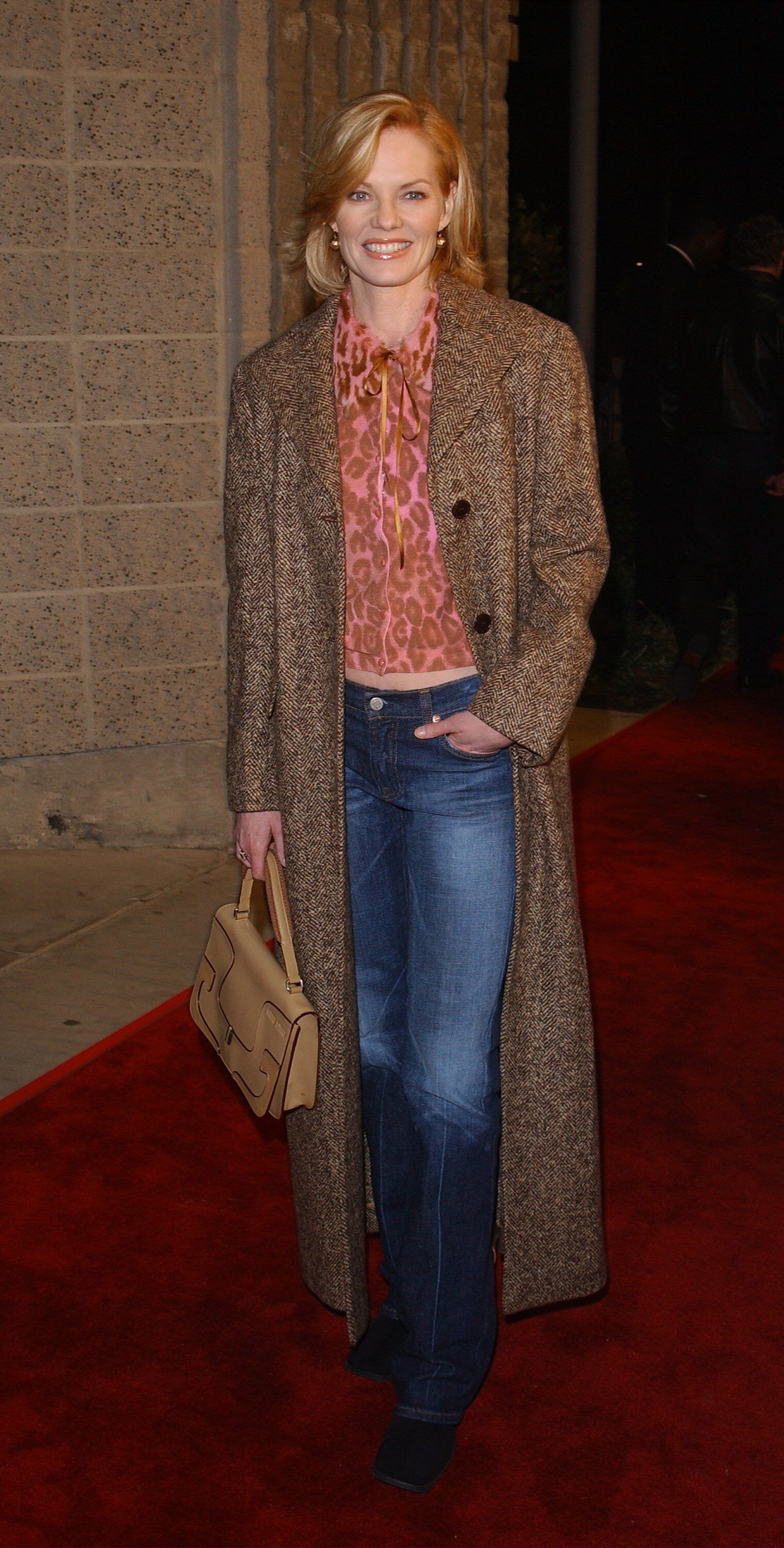 """Marg Helgenberger attends the premiere of the film """"Black Hawk Down"""" 