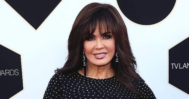 Marie Osmond's Fans Gush over Adorable Selfie of Her Wearing a Chic Personalized Face Mask