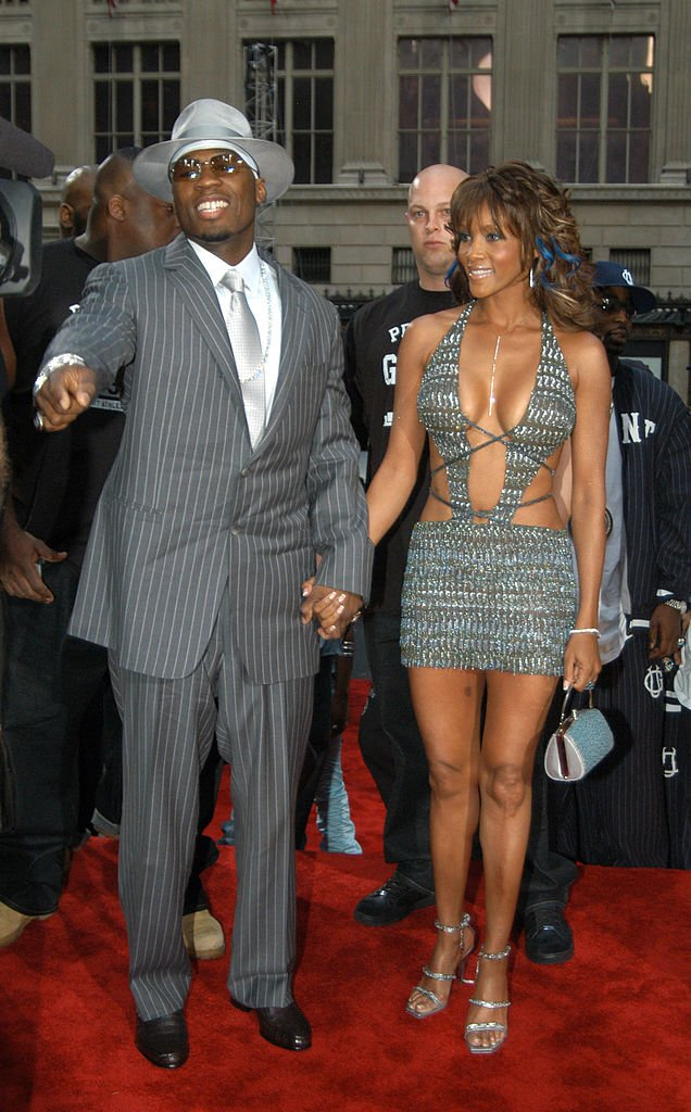 50 Cent and Vivica A. Fox during 2003 MTV Video Music Awards