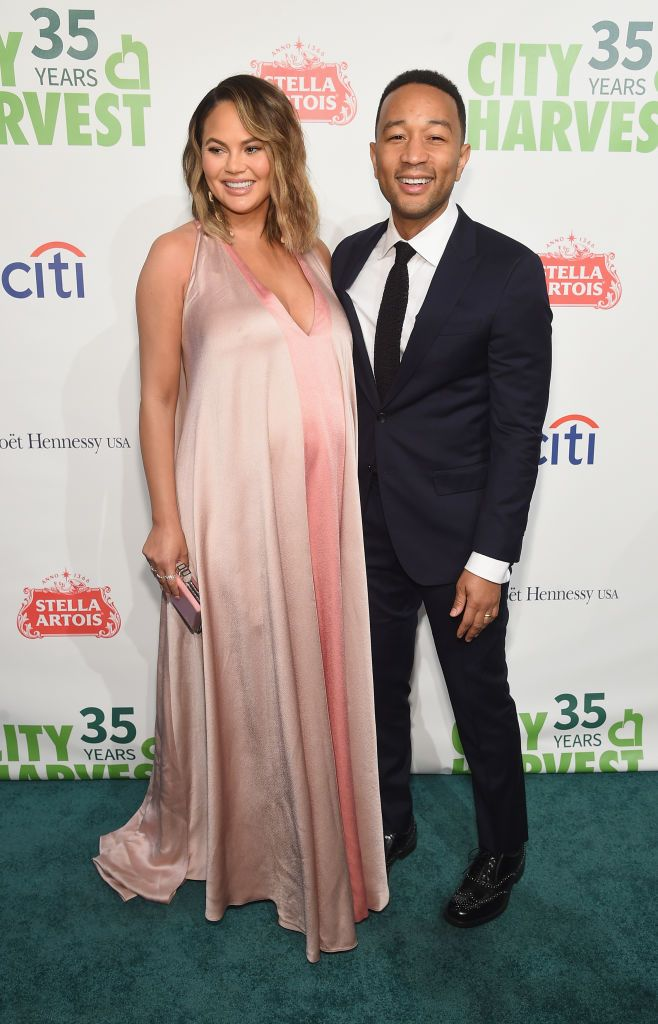 Chrissy Teigen and John Legend at City Harvest's 35th Anniversary Gala at Cipriani 42nd Street on April 24, 2018 in New York City. | Photo: Getty Images